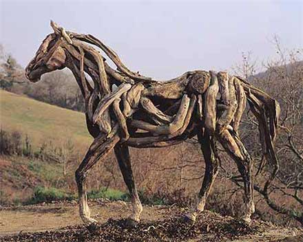 Horse sculpture equine ink for How to work with driftwood