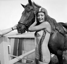 Riders of the Diving Horses were always glamorous young women
