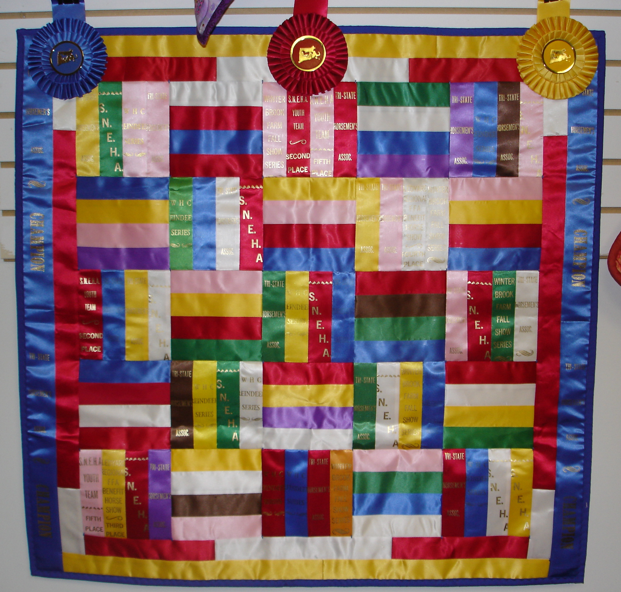 What to do with your horse show ribbons equine ink for What to do with an old quilt