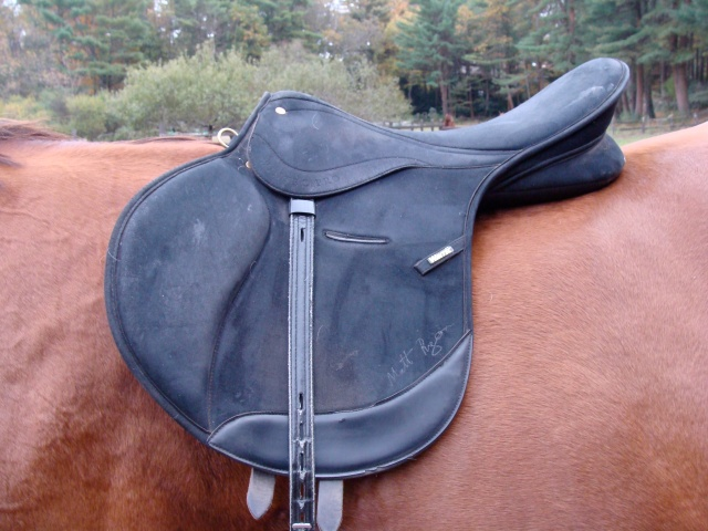 This is Wintec XC saddle that shows a design that supports shorter stirrups and bigger fences.