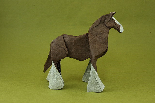 Shire Origami Horse By Quentin Clydesdale