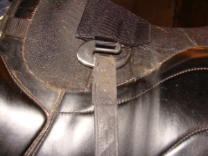 The ebar from Sensation Saddlery allows you to use webber style leathers safely.