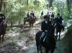 Happy riders after the hunt.
