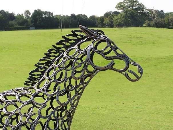 Fabulous Horse Shoe Sculptures Equine Ink