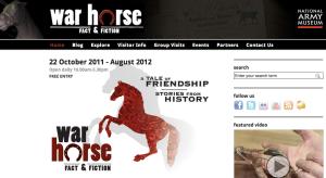 War Horse Fact & Fiction Exhibit Website