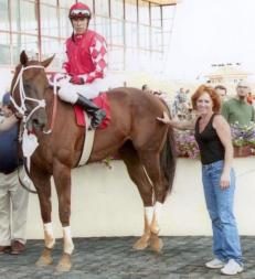 Beau Jaques was given to Kelsey Lefever who promised to find him a non racing home.