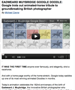 Washington Post Muybridge article