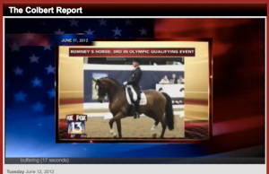 Stephen Colbert: Mitt Romney's Blue-Collar Equestrian Past-time