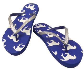 horse print flip flops