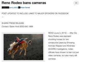 Reno rodeo bans cameras