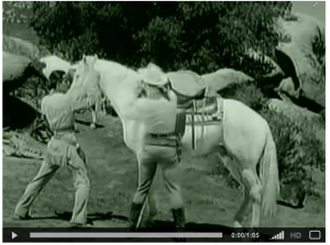 The Lone Ranger trains Silver