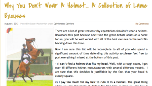 You can read the rest of the post at Horse Junkies United. Just click on the photo.