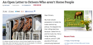 open letter to non horsey drivers