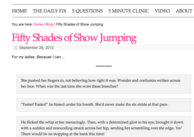 50 shades of show jumping