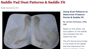 saddle pad dirt patterns