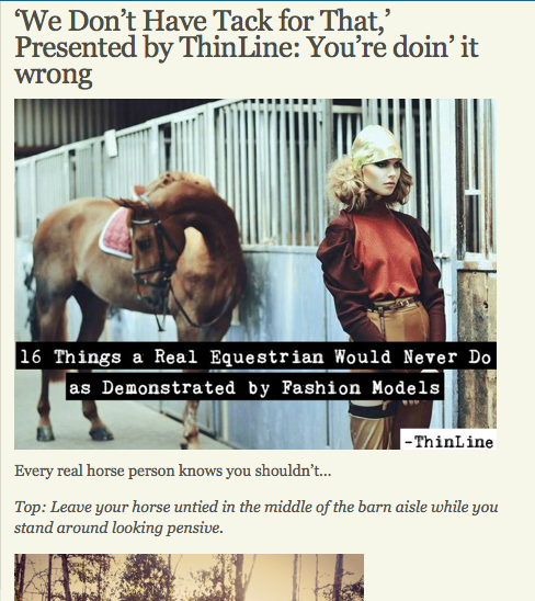 Equestrians in ads