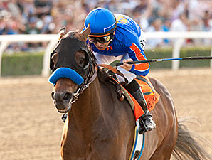 Game On Dude winning the Santa Anita Handicap with Mike Smith in the irons. Photo: Benoit Photo