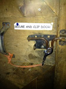 Secure and clip the door
