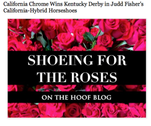 Shoeing for the roses