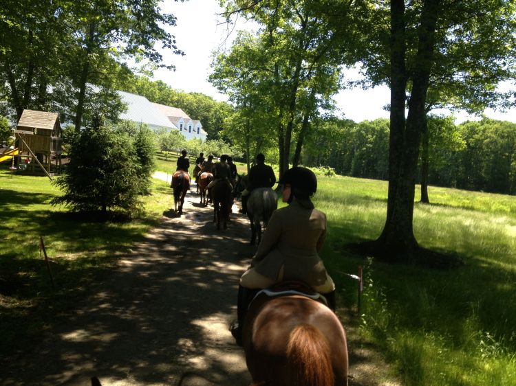 Heading back to the Inn we rode through some magnificent properties