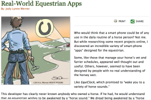 Real World Equestrian Apps