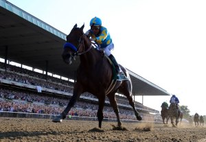 American Pharoah wins the Belmont