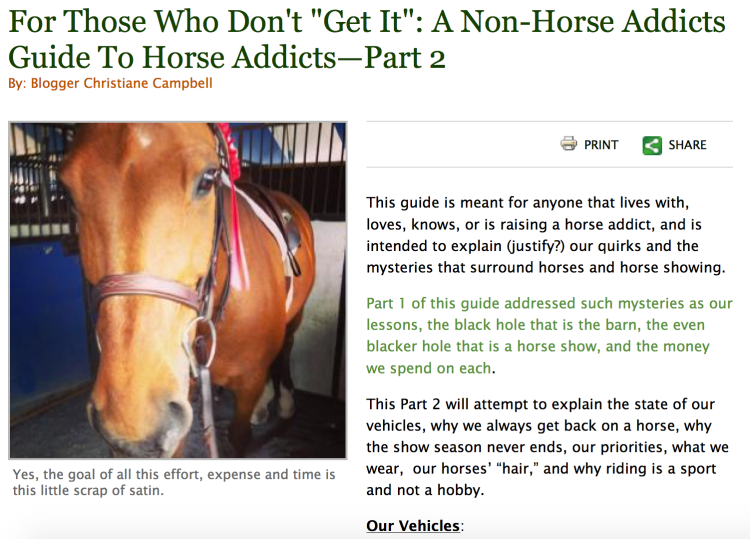 Horse addicts - part 2