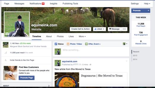 Equine Ink Facebook Page