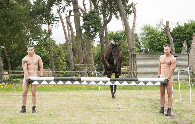 Riders Get Naked For Charity  Equine Ink-3076