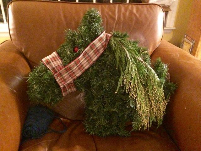 Horse head wreath