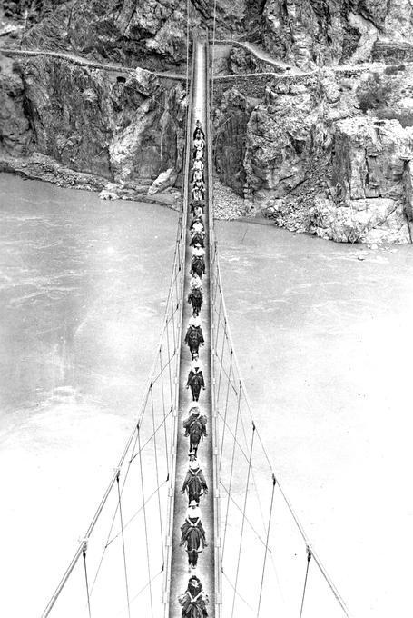 Grand Canyon Mule Bridge