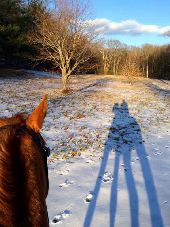First snowy ride