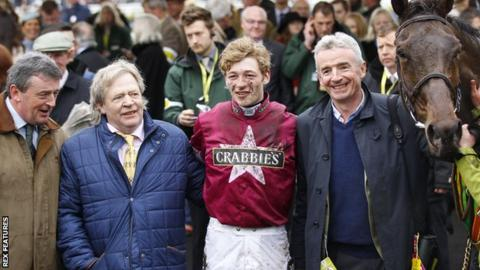 Mouse Morris, David Mullins, Michael O'Leary and Rule The World.