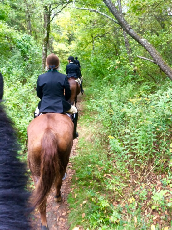 Riding through the woods