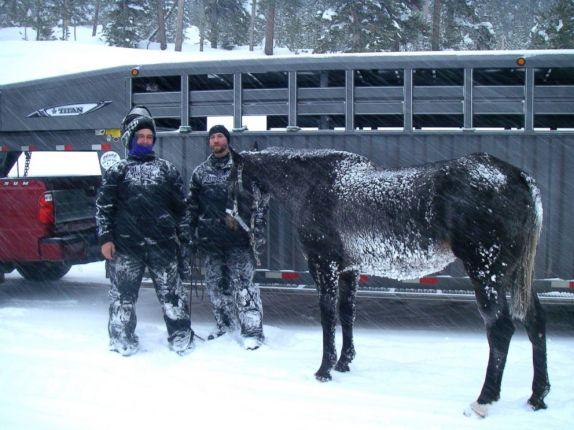 Valentine survives six weeks of Wyoming Winter