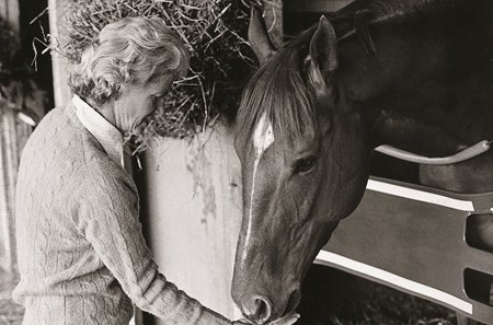 Penny Chenery with Secretariat.