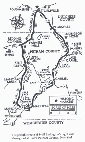 Ludington's route