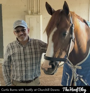 Curtis Burns with Justify