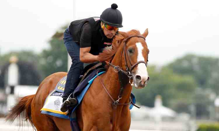 Justify at Belmont