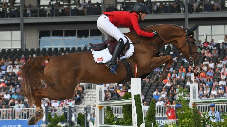 Simone Blum wins individual gold