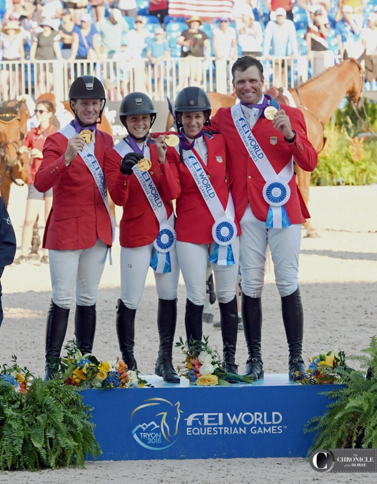 US Team wins gold in showjumping