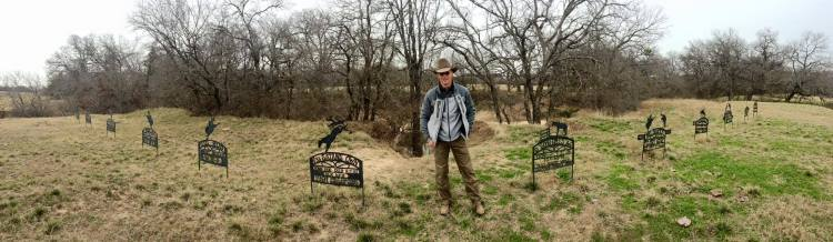 Ty Murray's grave markers for bucking horses