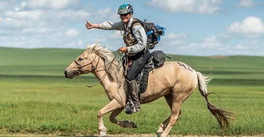 Robert Long wins Mongol Derby
