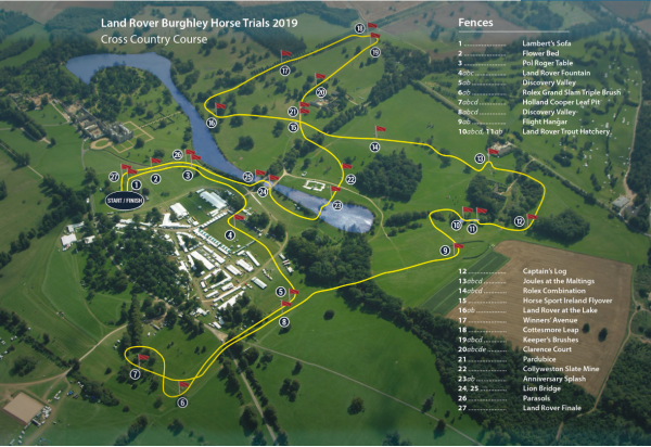 Burghley XC map